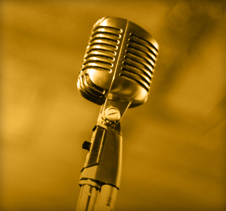 Book the Author image: classic microphone